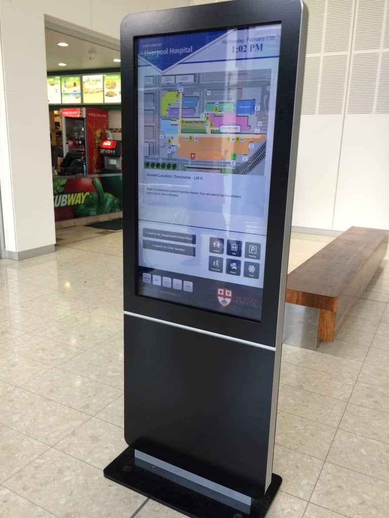 Digital Wayfinding Solutions - Liverpool Hospital Lifts