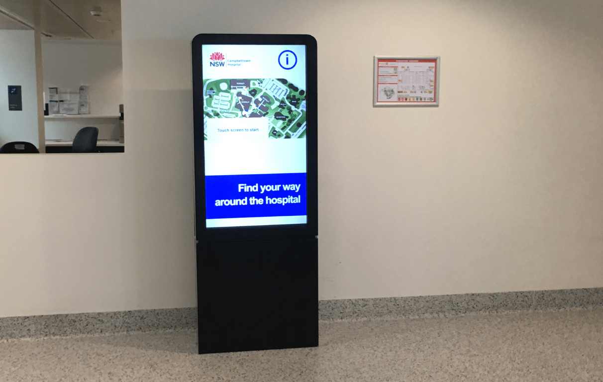 Digital Wayfinding Solutions - Cambelltown Hospital - NAB Ground
