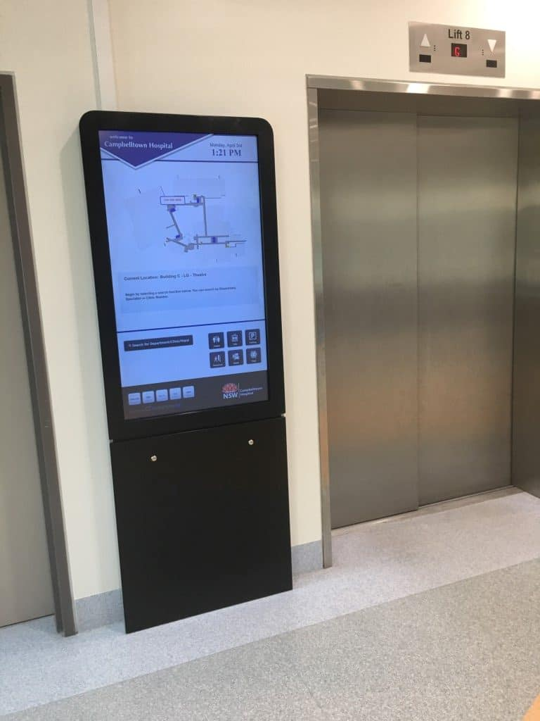 Digital Wayfinding Solutions - Cambelltown Hospital - Theatre
