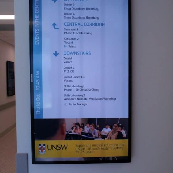 Digital Wayfinding Solutions UNSW Corridor