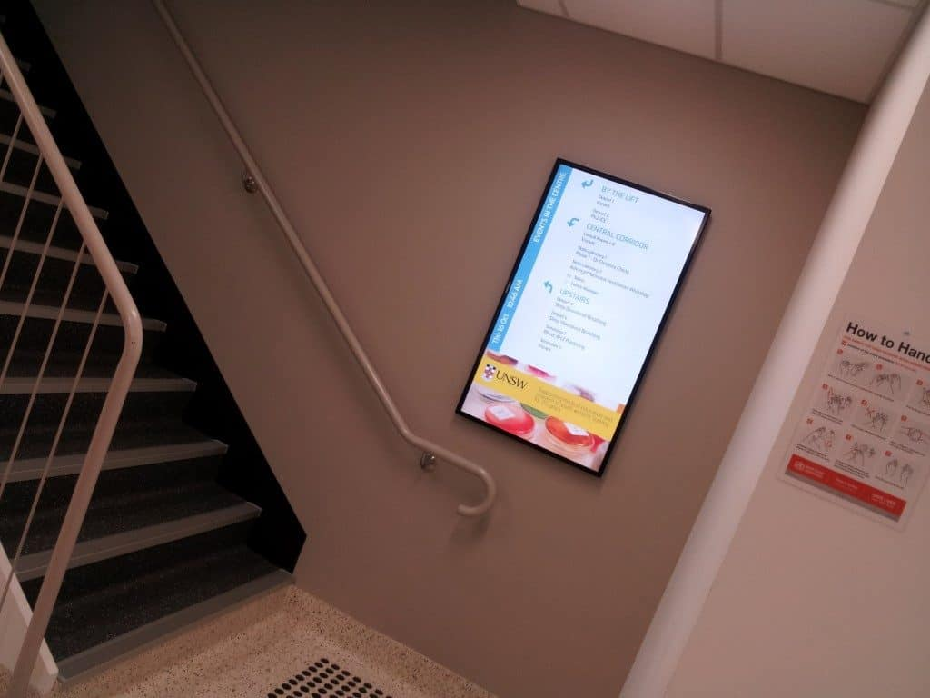 Digital Wayfinding Solutions UNSW Stairs