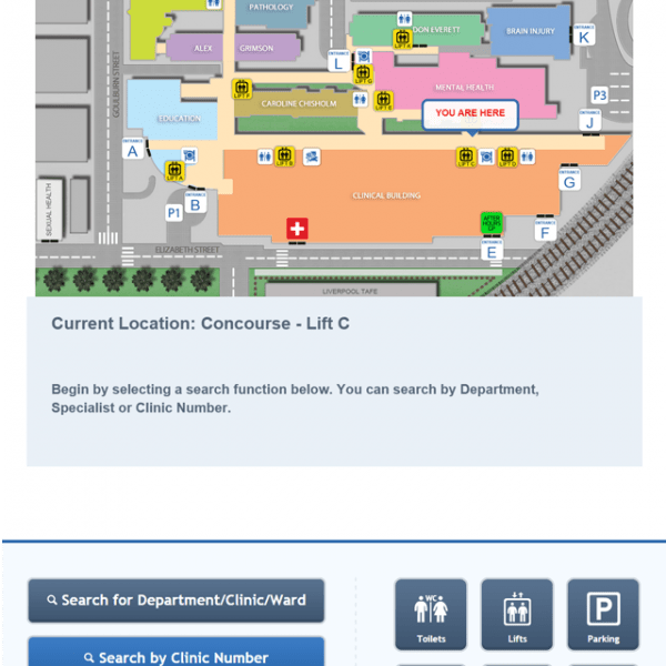Digital Wayfinding Hospital Overview