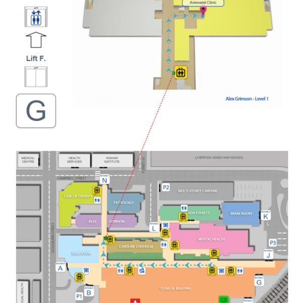 Digital Wayfinding Hospital Routing