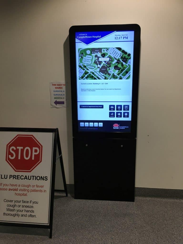 Digital Wayfinding Solutions - Cambelltown Hospital - Cafe 2