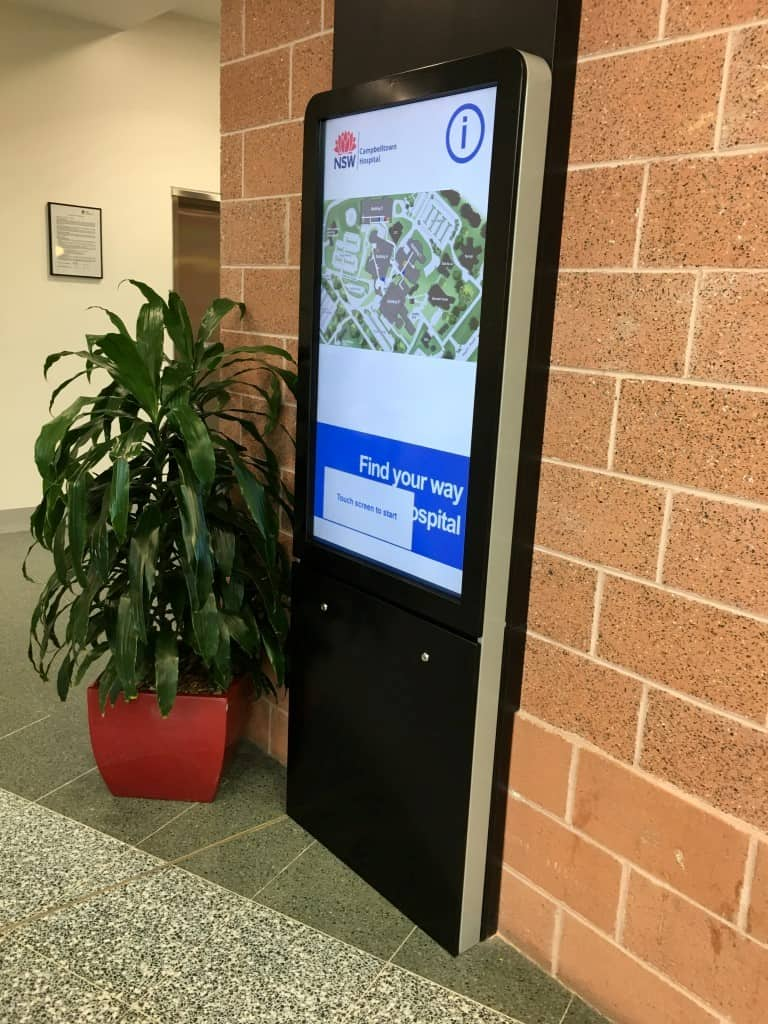 Digital Wayfinding Solutions - Cambelltown Hospital - Main Entrance 2