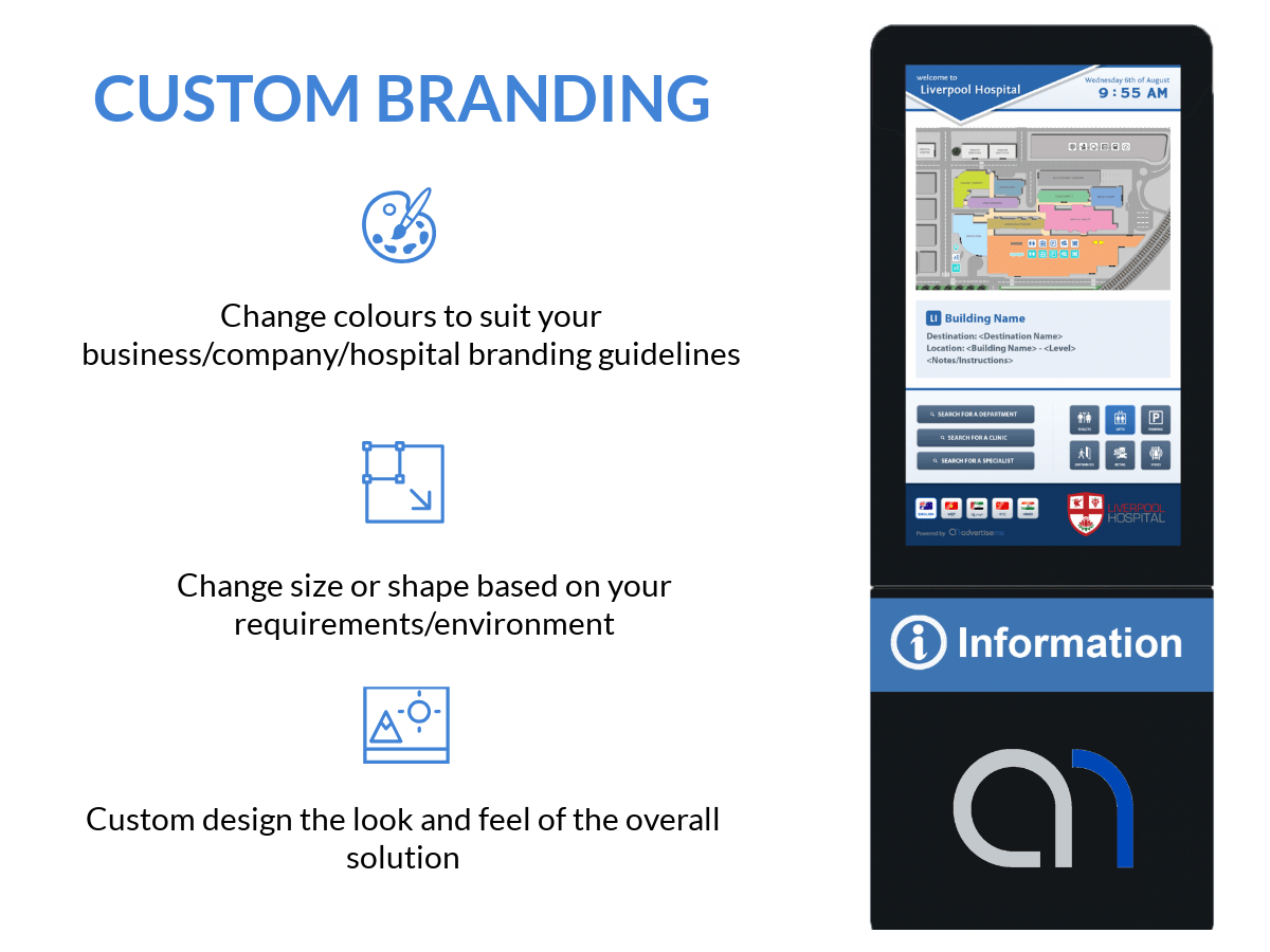 Digital Wayfinding Solutions -Custom Branding Kiosks