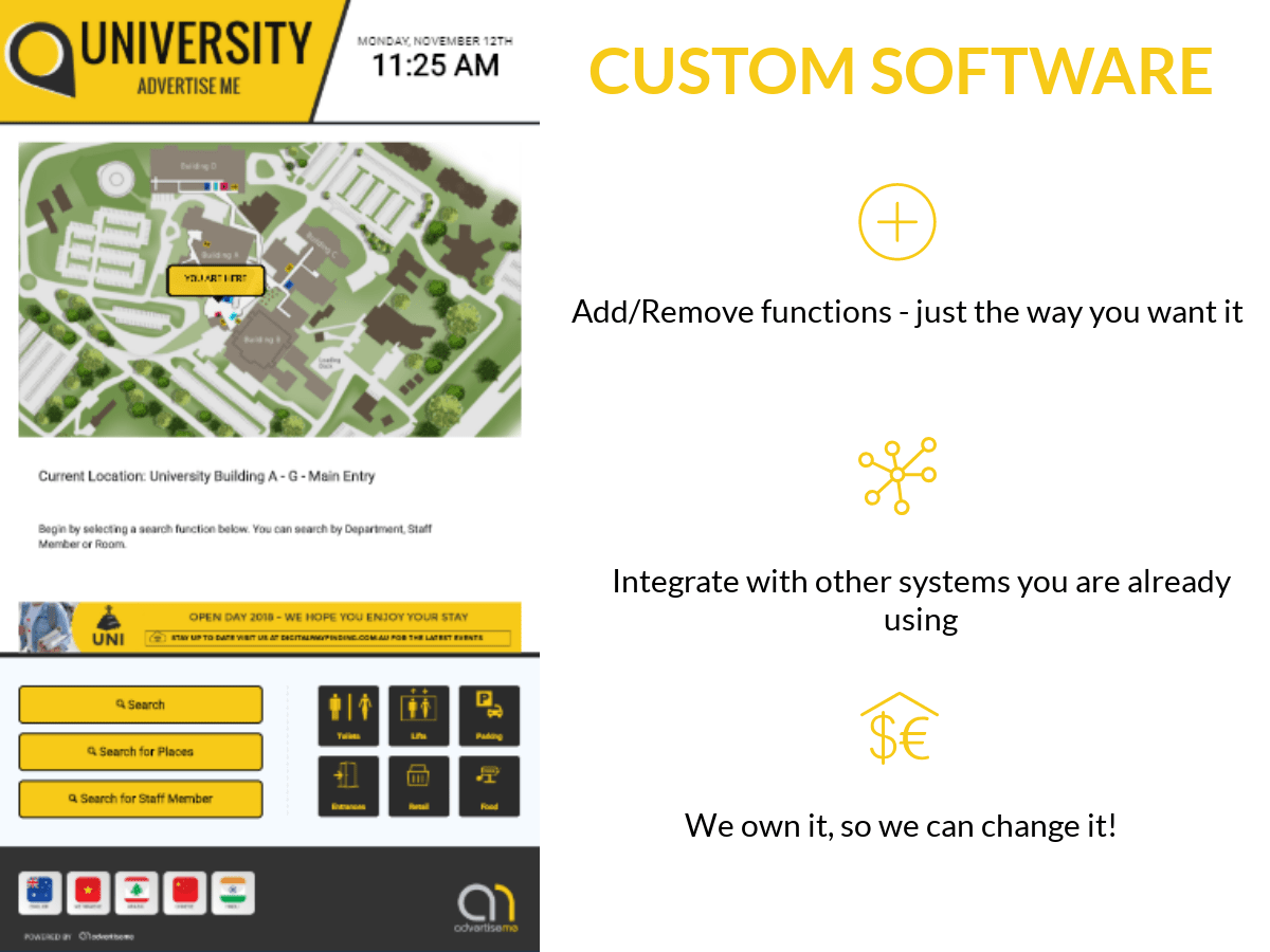 Digital Wayfinding Solutions - University Custom Software