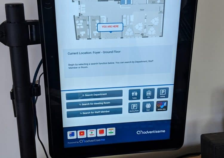 Digital Wayfinding Solutions Reception Desk Kiosk