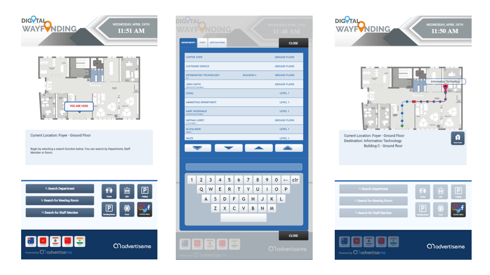 Digital Wayfinding Office - Buildings Floorplans