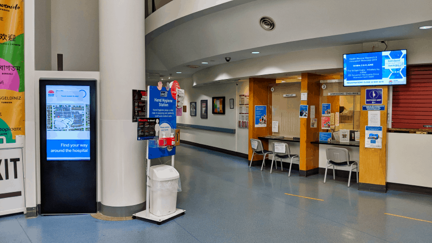 Digital Wayfinding Solutions - Bankstown Hospital Main Entrance