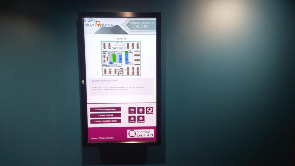 Digital Wayfinding Solutions - Victoria Legal Aid Kiosk